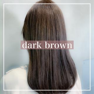 暗髪 ミディアム ナチュラル 圧倒的透明感 ヘアスタイルや髪型の写真・画像