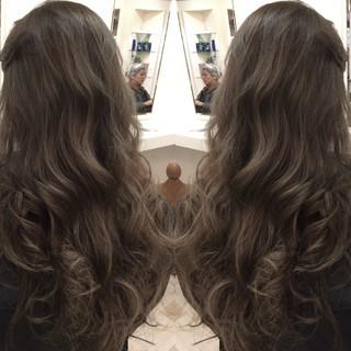ゆるふわ 外国人風 グラデーションカラー ハイライト ヘアスタイルや髪型の写真・画像