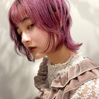 ナチュラル 大人可愛い ショート ピンクベージュ ヘアスタイルや髪型の写真・画像