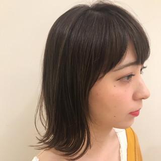 ナチュラル 小顔 外ハネボブ 簡単スタイリング ヘアスタイルや髪型の写真・画像
