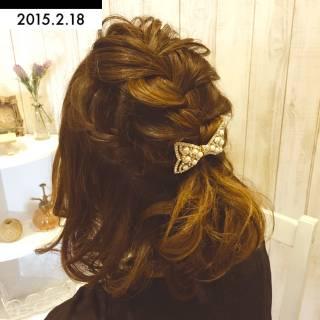 モテ髪 卵型 コンサバ ミディアム ヘアスタイルや髪型の写真・画像