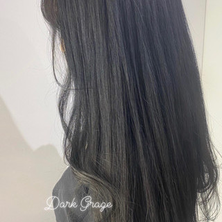 ナチュラル ロング アッシュグレージュ グレージュ ヘアスタイルや髪型の写真・画像