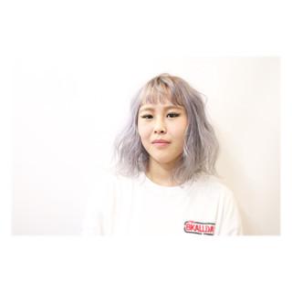 外国人風 グラデーションカラー ハイトーン ストリート ヘアスタイルや髪型の写真・画像