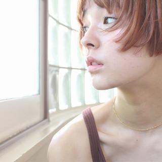 小顔 ショートボブ 透明感 ナチュラル ヘアスタイルや髪型の写真・画像