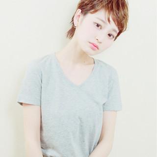 外国人風 ベリーショート 大人かわいい ショート ヘアスタイルや髪型の写真・画像