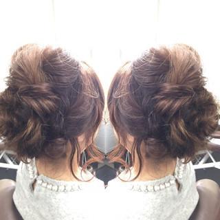 かわいい ロブ ヘアアレンジ セミロング ヘアスタイルや髪型の写真・画像