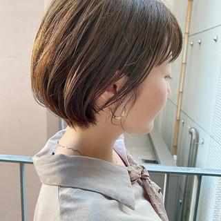 デート オフィス ショートヘア 大人かわいい ヘアスタイルや髪型の写真・画像