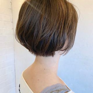 ボブ ショートヘア ナチュラル ミニボブ ヘアスタイルや髪型の写真・画像