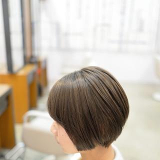 ショートボブ 大人かわいい ボブ ナチュラル ヘアスタイルや髪型の写真・画像