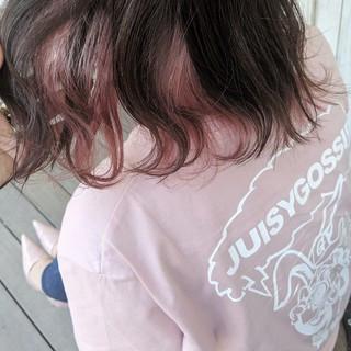 切りっぱなし デート ミディアム 外ハネ ヘアスタイルや髪型の写真・画像 ヘアスタイルや髪型の写真・画像