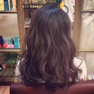 ミディアム グラデーションカラー ガーリー 外国人風 ヘアスタイルや髪型の写真・画像