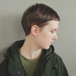 ショート ブリーチ ナチュラル ベリーショート ヘアスタイルや髪型の写真・画像