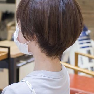 ショート ショートボブ ミニボブ フェミニン ヘアスタイルや髪型の写真・画像