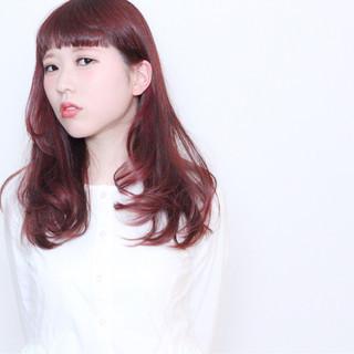 前髪あり ロング グラデーションカラー ハイライト ヘアスタイルや髪型の写真・画像
