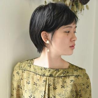 パーマ 簡単ヘアアレンジ 前髪あり 黒髪 ヘアスタイルや髪型の写真・画像