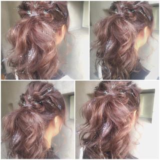 大人かわいい ゆるふわ ミディアム 簡単ヘアアレンジ ヘアスタイルや髪型の写真・画像