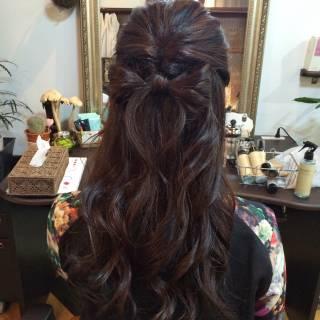 大人かわいい ロング ヘアアレンジ コンサバ ヘアスタイルや髪型の写真・画像