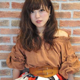外国人風カラー ゆるふわ フェミニン 秋 ヘアスタイルや髪型の写真・画像