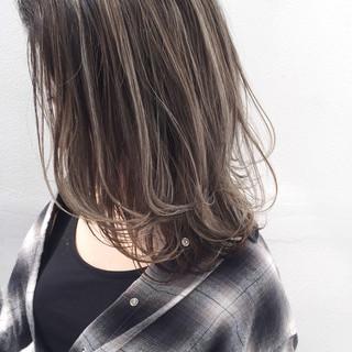 似合わせ バレイヤージュ ボブ 外国人風 ヘアスタイルや髪型の写真・画像
