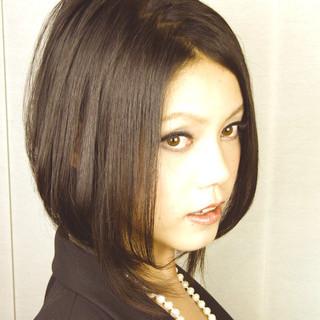 ショート ボブ 外国人風 黒髪 ヘアスタイルや髪型の写真・画像