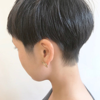 黒髪 ストリート 大人かわいい ショートボブ ヘアスタイルや髪型の写真・画像