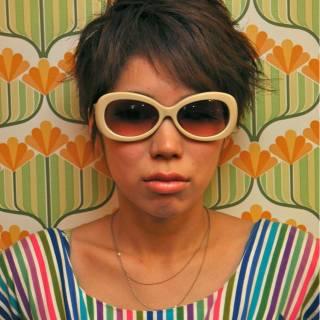 ショート ガーリー パンク 春 ヘアスタイルや髪型の写真・画像