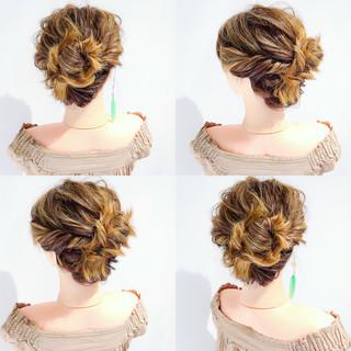 デート 簡単ヘアアレンジ ヘアアレンジ ロング ヘアスタイルや髪型の写真・画像