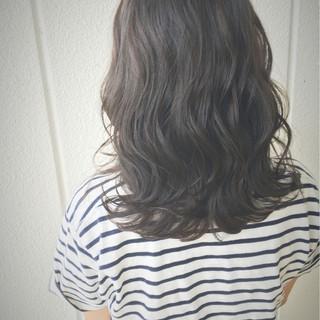 波ウェーブ 外ハネ ミディアム ヘアアレンジ ヘアスタイルや髪型の写真・画像