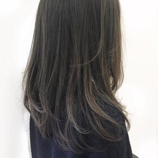 ハイライト セミロング ストリート 大人かわいい ヘアスタイルや髪型の写真・画像