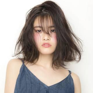 ミディアム 透明感 モテ髪 コンサバ ヘアスタイルや髪型の写真・画像