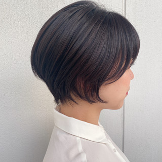 ショート ショートカット ナチュラル ショートボブ ヘアスタイルや髪型の写真・画像
