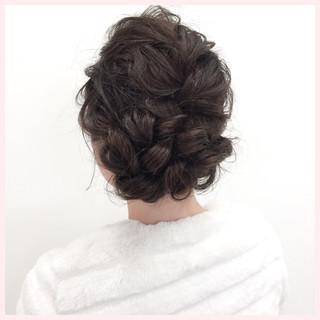 簡単ヘアアレンジ 結婚式 ヘアアレンジ エレガント ヘアスタイルや髪型の写真・画像