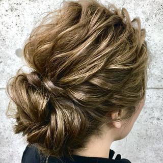 ヘアアレンジ 結婚式 ロング エレガント ヘアスタイルや髪型の写真・画像