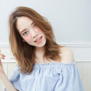 外国人風 アッシュ ハイライト グラデーションカラー ヘアスタイルや髪型の写真・画像