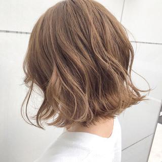 切りっぱなし 簡単ヘアアレンジ ボブ ナチュラル ヘアスタイルや髪型の写真・画像