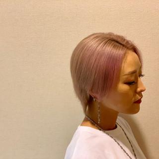 ショート ピンクラベンダー モード ショートヘア ヘアスタイルや髪型の写真・画像