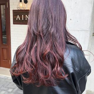 ヘアアレンジ バレイヤージュ 外国人風カラー ロング ヘアスタイルや髪型の写真・画像