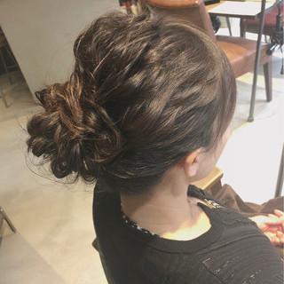 結婚式 セミロング エレガント ヘアセット ヘアスタイルや髪型の写真・画像