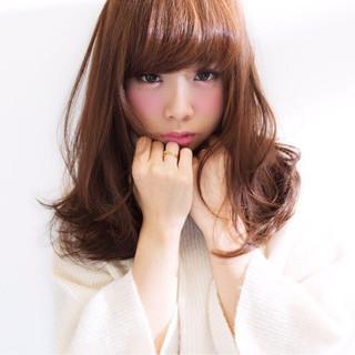 大人かわいい 前髪あり セミロング ナチュラル ヘアスタイルや髪型の写真・画像 ヘアスタイルや髪型の写真・画像