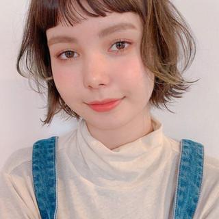 ガーリー ボブ アンニュイほつれヘア ウルフカット ヘアスタイルや髪型の写真・画像
