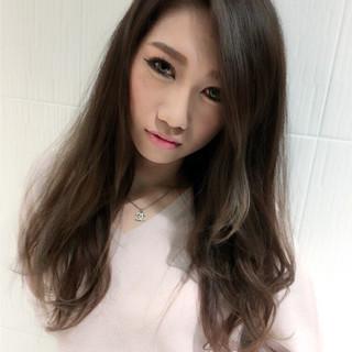 アッシュ 外国人風カラー コンサバ 外国人風 ヘアスタイルや髪型の写真・画像