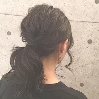 こなれ感 ローポニーテール ヘアアレンジ 簡単ヘアアレンジ ヘアスタイルや髪型の写真・画像 ヘアスタイルや髪型の写真・画像