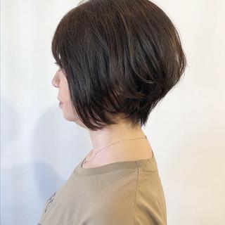 デート 小顔ヘア ショート ナチュラル ヘアスタイルや髪型の写真・画像