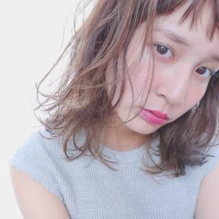 ミディアム モテ髪 愛され 外国人風 ヘアスタイルや髪型の写真・画像 ヘアスタイルや髪型の写真・画像
