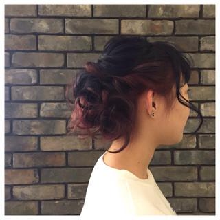 簡単ヘアアレンジ ねじり ヘアアレンジ 編み込み ヘアスタイルや髪型の写真・画像 ヘアスタイルや髪型の写真・画像