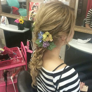 ナチュラル ヘアアレンジ ロング 結婚式 ヘアスタイルや髪型の写真・画像 | rumiLINKS美容室 / リンクス美容室