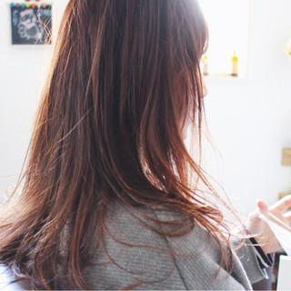 小顔 ロング こなれ感 ナチュラル ヘアスタイルや髪型の写真・画像