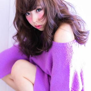 ゆるふわ ガーリー 渋谷系 フェミニン ヘアスタイルや髪型の写真・画像
