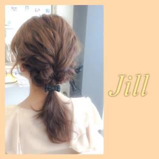 ショート 編み込み ポニーテール ねじり ヘアスタイルや髪型の写真・画像 ヘアスタイルや髪型の写真・画像