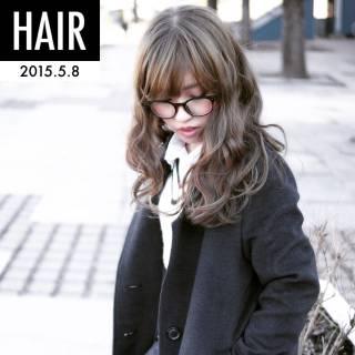 フェミニン センターパート ゆるふわ 渋谷系 ヘアスタイルや髪型の写真・画像